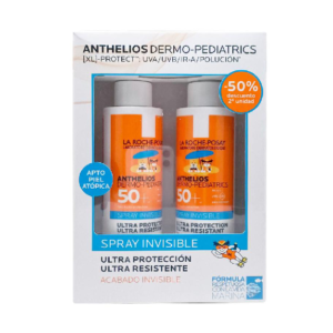 ANTHELIOS DERMO PEDIATRICS PACK SPRAY INVISIBLE 2X200ML