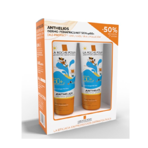 ANTHELIOS PACK DERMO PEDIATRICS GEL WET SKIN 2X250 MLS