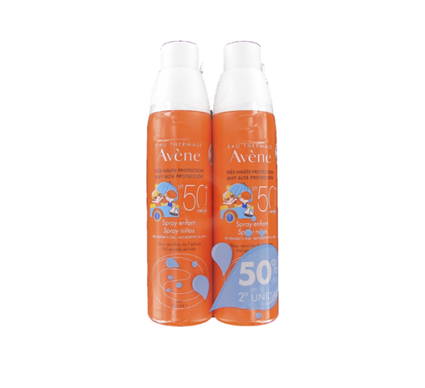 AVENE SPRAY ALTA PROTECCION SPF 50+ PEDIATRIC DUPLO 2ºUD 50%